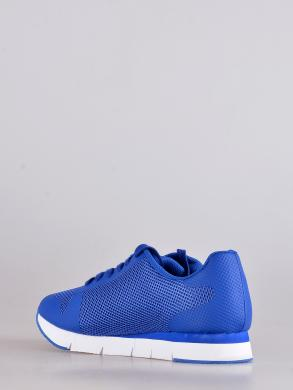 CALVIN KLEIN JEANS  vīriešu spilgti zili tekstīla auduma sporta apavi ar baltu zoli