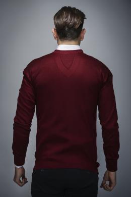 PHILIP LOREN bordo krāsas vīriešu kokvilnas džemperis