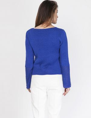 MKM zilas krāsas sieviešu džemperis
