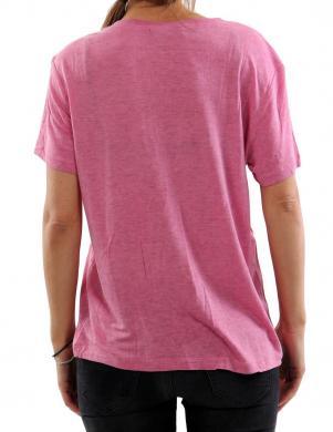 DIESEL rozā sieviešu krekls MORIPRINT