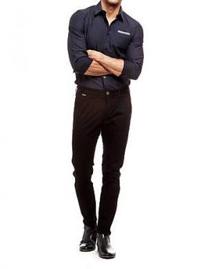 GUESS vīriešu stilīgas melnas krāsas bikses
