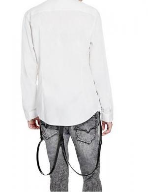 GUESS kokvilnas baltas krāsas vīriešu krekls