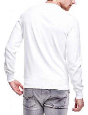 Balts vīriešu kokvilnas džemperis GUESS