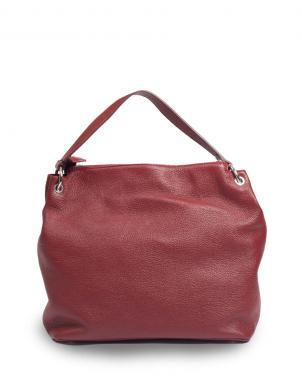 PIERRE CARDIN sieviešu bordo dabīgas ādas soma liela