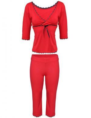 DKAREN sarkana sieviešu pidžama Sylvie