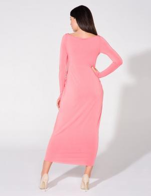 TESSITA rozā krāsas pieguļoša gara kleita
