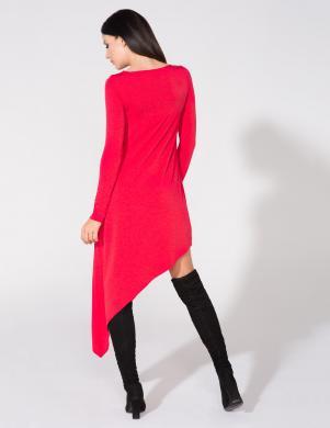 TESSITA šķība griezuma sarkanas krāsas kleita