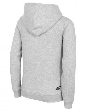 Bērnu pelēks džemperis ar kapuci 4F