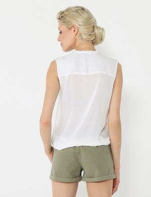 DIVERSE sieviešu bezpiedurkņu baltas krāsas blūze NAOKI