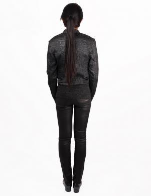RICHMOND DENIM sieviešu stilīga melnas krāsas īsa jaka