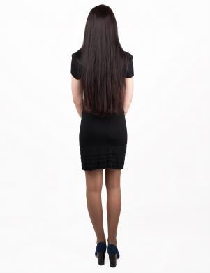 JOHN RICHMOND melnas krāsas eleganta ar īsām piedurknēm sieviešu kleita