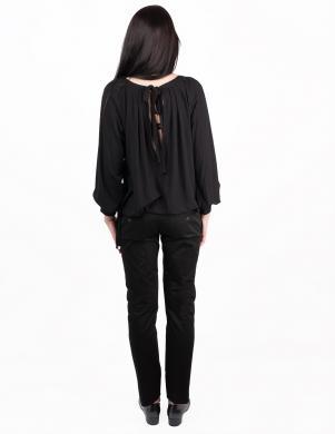 JOHN RICHMOND sieviešu skaista melnas krāsas ar garām piedukrnēm blūze