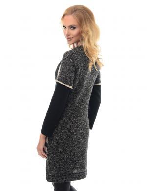 ALEKSSANDRA sieviešu svītrains džemperis ar īsām piedurknēm