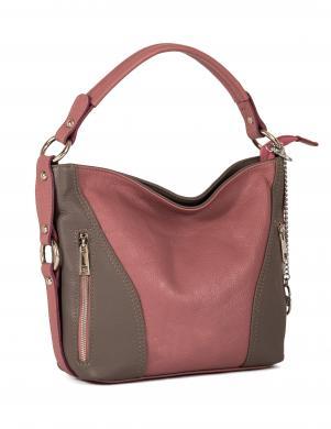 ANNA MORELLINI rozā ādas sieviešu soma