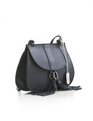 ANNA MORELLINI tumši zilas krāsas sieviešu ādas soma pār plecu