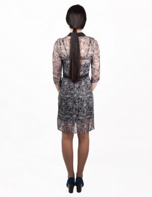 JOHN RICHMOND melnas/pelēkas krāsas stilīga sieviešu zīda kleita