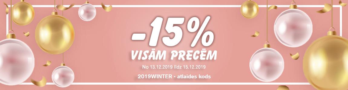 15% ATLAIDE VISĀM PRECĒM